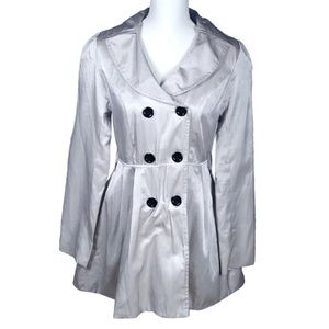 Charlotte Russe | Stunning Silver Trench Coat